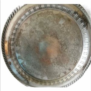 WM ROGERS SILVER PLATED SERVING TRAY
